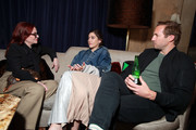 (L-R) Megan Mullally, Lizzy Caplan and Ryan Hansen in the Heineken Green Room at Vulture Festival Presented By AT&T at The Roosevelt Hotel on November 10, 2019 in Hollywood, California.