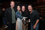 (L-R) Ryan Hansen, Lizzy Caplan, Megan Mullally and Ken Marino in the Heineken Green Room at Vulture Festival Presented By AT&T at The Roosevelt Hotel on November 10, 2019 in Hollywood, California.