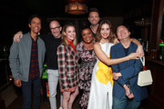 (L-R) Danny Pudi, Jim Rash, Gillian Jacobs, Yvette Nicole Brown, Joel McHale, Alison Brie and Ken Jeong in the Heineken Green Room at Vulture Festival Presented By AT&T at The Roosevelt Hotel on November 10, 2019 in Hollywood, California.