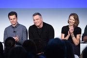 "Jonathan Groff, Holt McCallany, and Anna Torv speak onstage during ""Get Your Mind Blown With the Cast of Mindhunter"" on Day Two of the Vulture Festival Presented By AT&T at Milk Studios on May 20, 2018 in New York City."