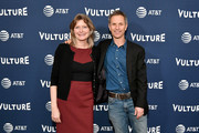 Novelist Jennifer Egan and New York Magazine Editor-in-Chief, Adam Moss attend the Vulture Festival Presented By AT&T - Milk Studios, Day 1 at Milk Studios on May 19, 2018 in New York City.