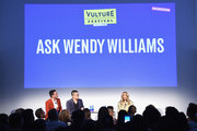(L-R) Matt Rogers, Bowen Yang and Wendy Williams speak onstage at Vulture Festival Presented By AT&T: Ask Wendy Williams at Milk Studios on May 19, 2018 in New York City.