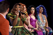 (L-R) Matt Rogers, Bebe Zahara Benet, Jinkx, Yuhua and Kalorie appear onstage at Vulture Festival Presented By AT&T: Drag Race: Ten Seasons Later and Taking over the Mother Tucking World at Milk Studios on May 19, 2018 in New York City.