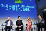 "(L-R) Director Silas Howard, Writer Daniel Pearle, Actor Claire Danes, and Actor Jim Parsons speak onstage during ""Claire Danes and Jim Parsons's A Kid Like Jake"" on Day Two of the Vulture Festival Presented By AT&T at Milk Studios on May 20, 2018 in New York City."