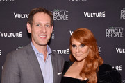 """Publisher and CRO at New York Media, Avi Zimak (L) and actress Julie Klausner attend Vulture + Hulu's screening of """"Difficult People"""" on August 7, 2017 in New York City."""