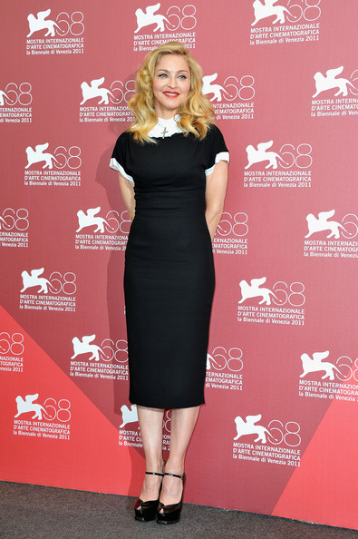 "Director/writer Madonna poses during the""W.E."" photocall at the Palazzo Del Cinema during the 68th Venice Film Festival on September 1, 2011 in Venice, Italy."
