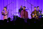 "(L-R) Nick Jonas, Joe Jonas, and Kevin Jonas of The Jonas Brothers perform onstage during WCRF's ""An Unforgettable Evening"" at Beverly Wilshire, A Four Seasons Hotel on February 27, 2020 in Beverly Hills, California."