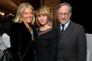 "(L-R) WCRF Co-Founder Kelly Chapman Meyer, Kate Capshaw and Steven Spielberg attend WCRF's ""An Unforgettable Evening"" at the Beverly Wilshire Four Seasons Hotel on February 28, 2019 in Beverly Hills, California."