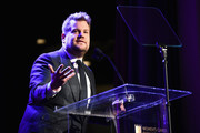 "Host James Corden speaks onstage during WCRF's ""An Unforgettable Evening"" Presented by Saks Fifth Avenue on February 27, 2018 in Beverly Hills, California."