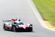 TOYOTA GAZOO RACING in the Toyota TS050 - Hybrid driven by Sebastien Buemi of Switzerland, Kazuki Nakajima of Japan, Fernando Alonso of Spain competes during Final Free Practice session in the WEC 6 Hours Of Spa-Francorchamps at Circuit de Spa-Francorchamps on May 4, 2018 in Spa, Belgium.