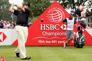 Phil Mickelson of the USA  hits his tee-shot on the tenth hole during the final round of the WGC - HSBC Champions at the Sheshan International Golf Club on November 3, 2013 in Shanghai, China.
