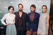 (L-R) Actors Janet Montgomery, Shane West, Seth Gabel, and Ashley Madekwe attend WGN America Presents 'Salem' At The 2014 Winter TCA's at The Langham Huntington Hotel and Spa on January 12, 2014 in Pasadena, California.