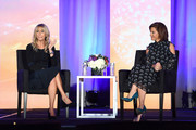 Chairman at NBCUniversal Cable Entertainment Group Bonnie Hammer and Anchor at MSNBC Live Stephanie Ruhle speak onstage during the WICT Leadership Conference at New York Marriott Marquis Hotel on October 15, 2018 in New York City.