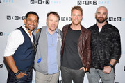 (L-R) Limitless cast, actor Hill Harper, director Marc Webb, actor Jake McDorman and producer Craig Sweeny attend WIRED Cafe at Comic Con 2015 in San Diego at Omni Hotel on July 9, 2015 in San Diego, California.