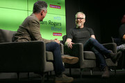 Adam Rogers (L) and Adam Savage speak at WIRED25 Festival: WIRED Celebrates 25th Anniversary ? Day 2 on October 14, 2018 in San Francisco, California.