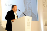 Artist Ai Weiwei accepts an award onstage at the WSJ Magazine 2016 Innovator Awards at Museum of Modern Art on November 2, 2016 in New York City.