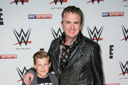 Shane Richie arrives for WWE RAW at 02 Brooklyn Bowl on April 18, 2016 in London, England.