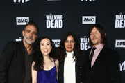 Jeffrey Dean Morgan, Angela Pham, Sarah Barnett and Norman Reedus attend The Walking Dead Premiere and Party on September 23, 2019 in West Hollywood, California.