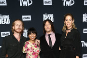 Austin Amelio, Karen David, Norman Reedus  and Jenna Elfman attend The Walking Dead Premiere and Party on September 23, 2019 in West Hollywood, California.