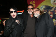 Marilyn Manson,  Jeffrey Dean Morgan and Greg Nicotero attend The Walking Dead Premiere and Party on September 23, 2019 in West Hollywood, California.