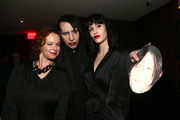 Thora Birch, Lindsay Usich and Marilyn Manson attend The Walking Dead Premiere and Party on September 23, 2019 in West Hollywood, California.