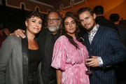 Briana Venskus, Greg Nicotero , Alanna Masterson and Callan McAuliffe attend The Walking Dead Premiere and Party on September 23, 2019 in West Hollywood, California.