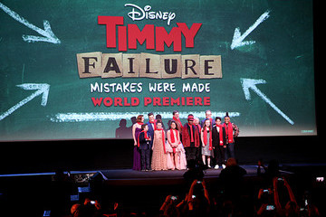 """Wallace Shawn Caitlin Weierhauser Premiere of Disney's """"Timmy Failure: Mistakes Were Made"""""""