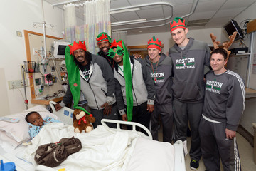 Walter McCarty Boston Celtics Bring Holiday Spirit To Boston Children's Hospital