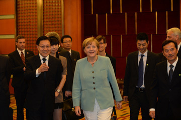 Wang Dongming Angela Merkel Visits China