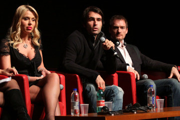 Valeria Marini Christian Molina I Want To Be A Soldier - Press Conference: The 5th International Rome Film Festival