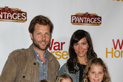 Actor Jamie Bamber (L) attends the 'War Horse' red carpet opening night at the Pantages Theatre on October 8, 2013 in Hollywood, California.