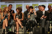 "In this handout photo provided by Warner Bros, Eric Richards, Camren Bicondova, David Mazouz, and Robin Lord Taylor of ""Gotham"" attends ""Warner Bros. Television Presents A Night of DC Entertainment"" at Comic-Con International 2014  on July 26, 2014  in San Diego, California."