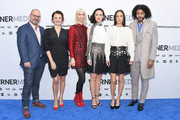(L-R) Snowpiercer creator Graeme Manson and cast members Alison Wright, Mickey Sumner, Lena Hall, Jennifer Connelly and Daveed Diggs attend the WarnerMedia 2019 Upfront at One Penn Plaza on May 15, 2019 in New York City.