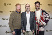"""Jesse Tyler Ferguson, David France and Justin Mikita stop by HBO Films' """"Welcome to Chechnya """"Premiere Party at WarnerMedia Lodge: Elevating Storytelling with AT&T during Sundance Film Festival 2020 on January 25, 2020 in Park City, Utah."""