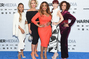 (L-R) Karrueche Tran, Jenn Lyon, Niecy Nash, Carrie Preston and Judy Reyes of TNT's Claws attend the WarnerMedia Upfront 2019 arrivals on the red carpet at The Theater at Madison Square Garden on May 15, 2019 in New York City. 602140