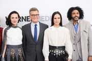 (L-R) Lena Hall, Jennifer Connelly and Daveed Diggs of TBS's Snowpiercer attend the WarnerMedia Upfront 2019 arrivals on the red carpet at The Theater at Madison Square Garden on May 15, 2019 in New York City. 602140