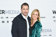Jason Jones of TBS's The Detour (L) and Samantha Bee of TBS's Full Frontal with Samantha Bee attend the WarnerMedia Upfront 2019 arrivals on the red carpet at The Theater at Madison Square Garden on May 15, 2019 in New York City. 602140