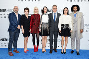 (L-R) Graeme Manson, Alison Wright, Mickey Sumner, Lena Hall, Jennifer Connelly and Daveed Diggs of TBS's Snowpiercer attend the WarnerMedia Upfront 2019 arrivals on the red carpet at The Theater at Madison Square Garden on May 15, 2019 in New York City. 602140