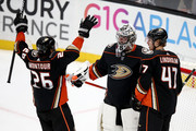 Hampus Lindholm and Brandon Montour Photos Photo
