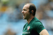 Geordan Murphy, the Leicester Tigers head coach looks on during the Gallagher Premiership Rugby match between Wasps and Leicester Tigers at the Ricoh Arena on September 16, 2018 in Coventry, United Kingdom.