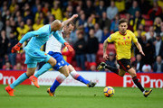 Charlie Adam of Stoke City shoots during the Premier League match between Watford and Stoke City at Vicarage Road on October 28, 2017 in Watford, England.