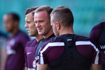 Wayne Rooney England Training and Press Conference