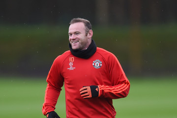 Wayne Rooney Manchester United Training Session