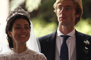 Alessandra de Osma and Prince Christian of Hanover after the wedding of Prince Christian of Hanover and  Alessandra de Osma at Basilica San Pedro on March 16, 2018 in Lima, Peru.