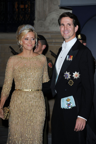 Prince Pavlos of Greece and Princess Marie Chantal of Greece attend the Gala dinner for the wedding of Prince Guillaume Of Luxembourg and Stephanie de Lannoy at the Grand-ducal Palace on October 19, 2012 in Luxembourg, Luxembourg. The 30-year-old hereditary Grand Duke of Luxembourg is the last hereditary Prince in Europe to get married, marrying his 28-year old Belgian Countess bride in a lavish 2-day ceremony.