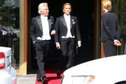 Giancarlo Giametti and Valentino Garavani attend the wedding of Princess Madeleine of Sweden and Christopher O'Neill hosted by King Carl Gustaf XIV and Queen Silvia at The Royal Palace on June 8, 2013 in Stockholm, Sweden.