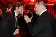 Actor Bradley Cooper and producer Harvey Weinstein attends the The Weinstein Company's 2013 Golden Globe Awards after party presented by Chopard, HP, Laura Mercier, Lexus, Marie Claire, and Yucaipa Films held at The Old Trader Vic's at The Beverly Hilton Hotel on January 13, 2013 in Beverly Hills, California.