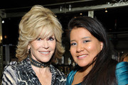 (L-R) Jane Fonda and Misty Upham attend the Weinstein Company's holiday party at RivaBella on November 21, 2013 in West Hollywood, California.
