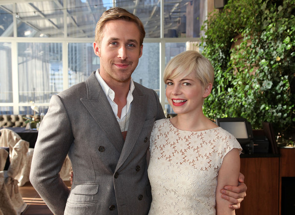 "(L-R) Ryan Gosling and Michelle Williams attend a luncheon to celebrate The Weinstein Company's ""Blue Valentine"" at Upstairs At The Kimberly Hotel on December 9, 2010 in New York City."