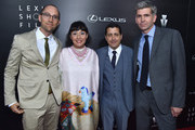 Directors Jon Goldman, The Weinstein Co. COO, David Glasser, and General Manager, Global Branding for Lexus, John Thomson arrive to The Weinstein Company and Lexus Present Lexus Short Films at The Regal Cinemas L.A. Live on July 30, 2014 in Los Angeles, California.